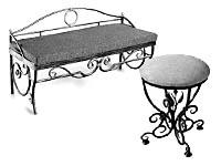 Кованые столы и кованые стулья