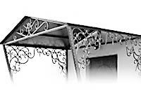 Кованые навесы и кованые козырьки