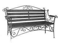 Кованые уличные скамейки
